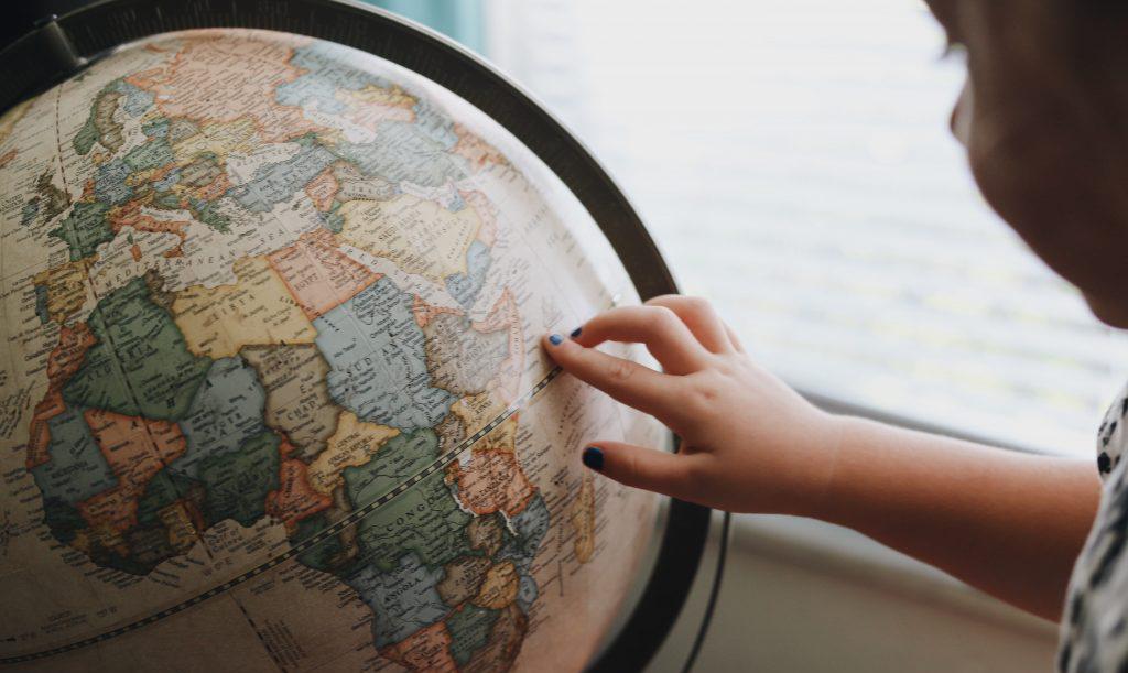 Globe indicating international MA Syriac Theology students